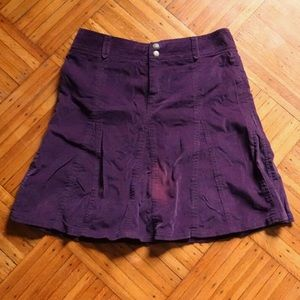 Athleta Purple Corduroy Whenever Cord Skirt